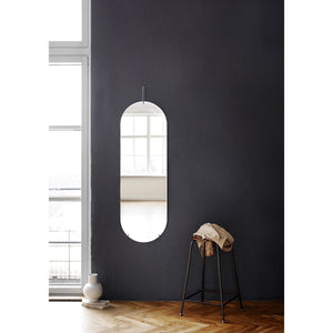 Tall wall mirror chrome