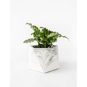 Mare planter large white marble