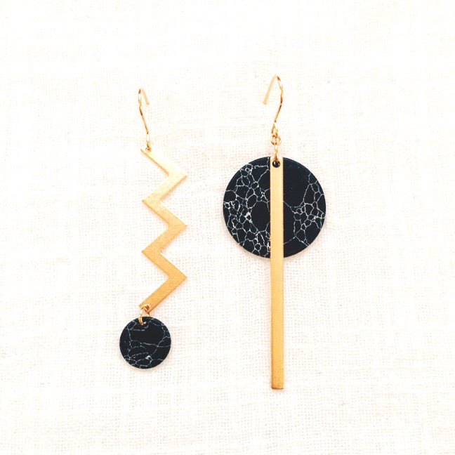 Mineral geometric earrings