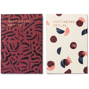 Notebooks misty red