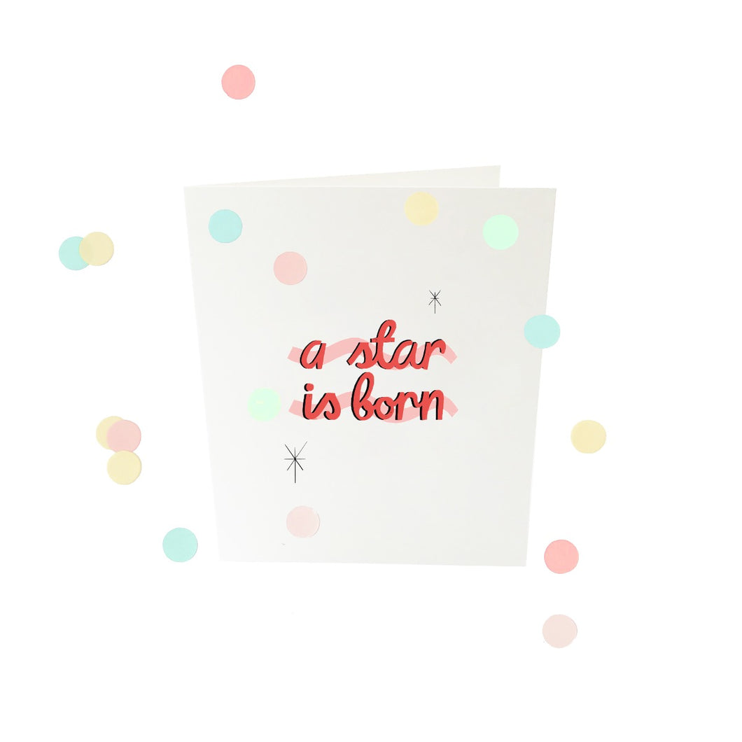 A star is born - confetti card