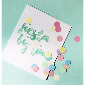 Fiesta big time - confetti card