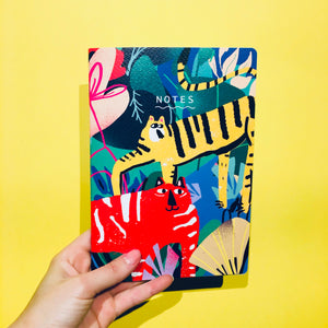 A5 notebook jungle