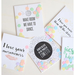 I love your awesomeness - confetti card