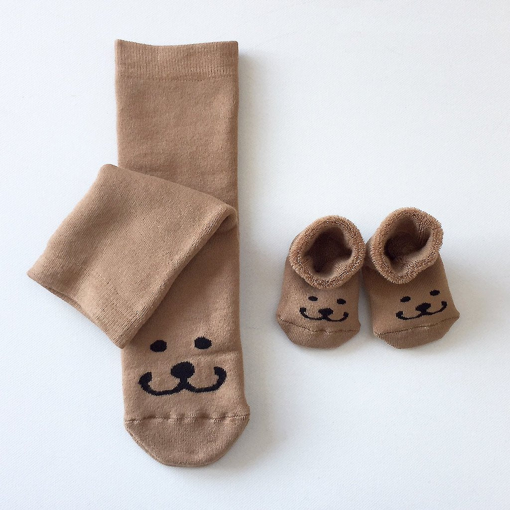 Mom and baby socks - Brom the bear