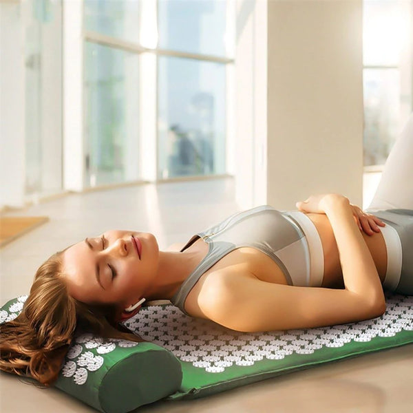 Acupressure Mat And Pillow green