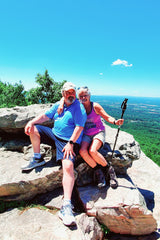 Nana and Pappy hiking
