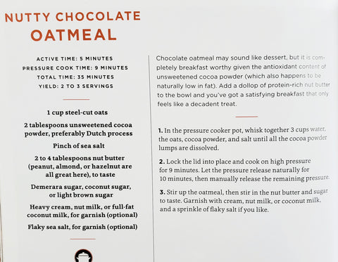 Nutty Chocolate Oatmeal from Comfort In An Instant