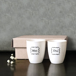 Egg Cup Set - Mum & Dad