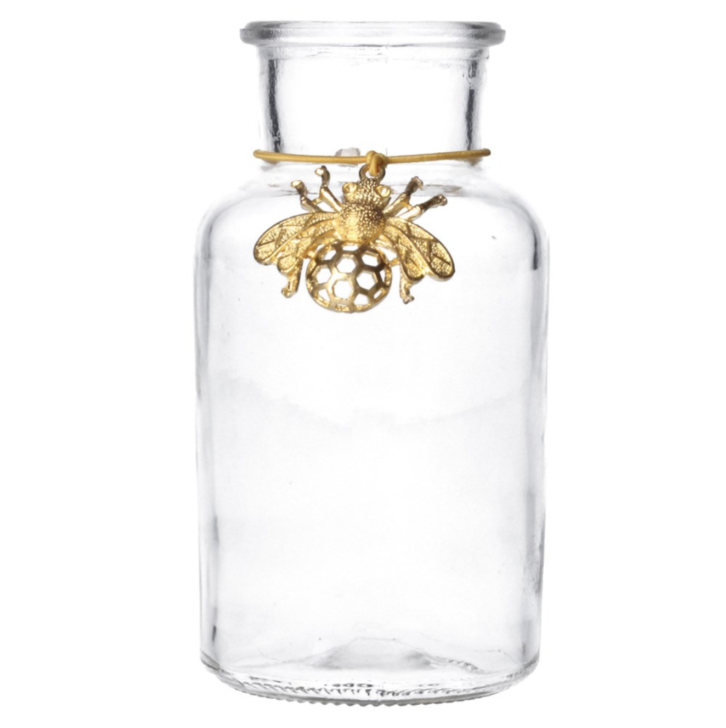 Gold Bee Charm Mini Jar