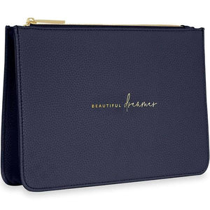 Pouch Beautiful Dreamer Navy Stylish Structured