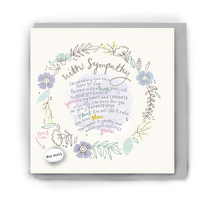 With Sympathy Bean Card