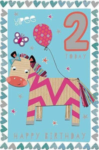 Birthday 2nd Pink Zebra