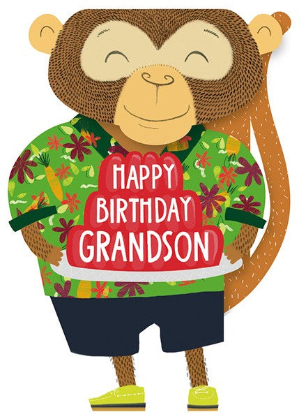 Happy Birthday Grandson - Monkey