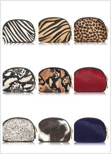 Leather/Cowhide Animal Print Purse