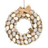 Moss Pastel Egg Wreath
