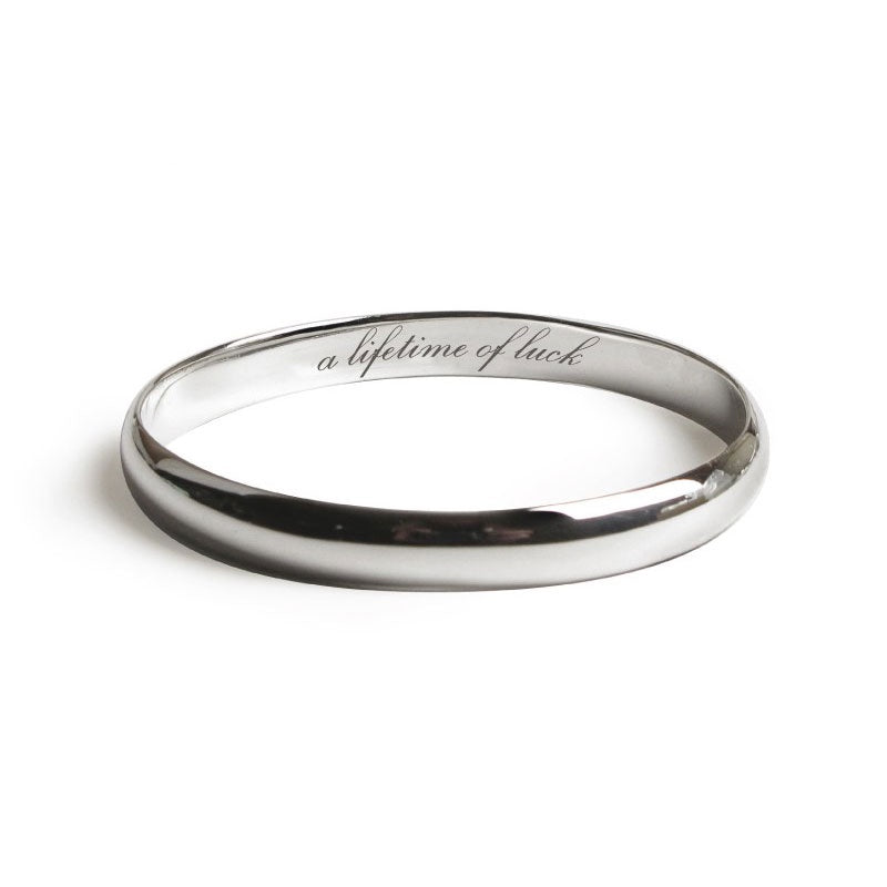 Lifetime of Luck Silver Bangle