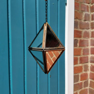 Small Mirrored Hanging Diamond