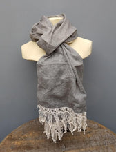 Load image into Gallery viewer, Cotton Lace Trim  scarf