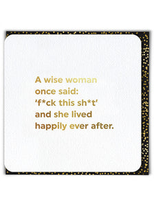 Wise Woman ****