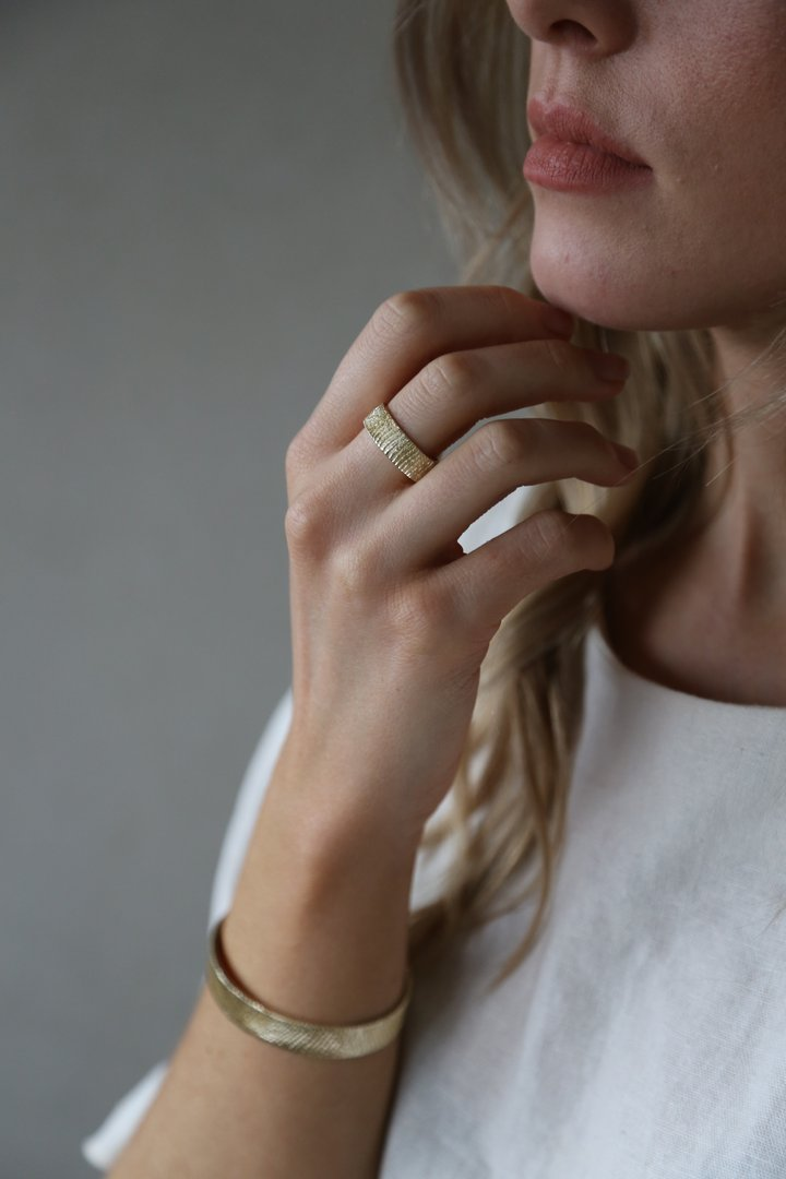 Wild - Gold Patterned Ring