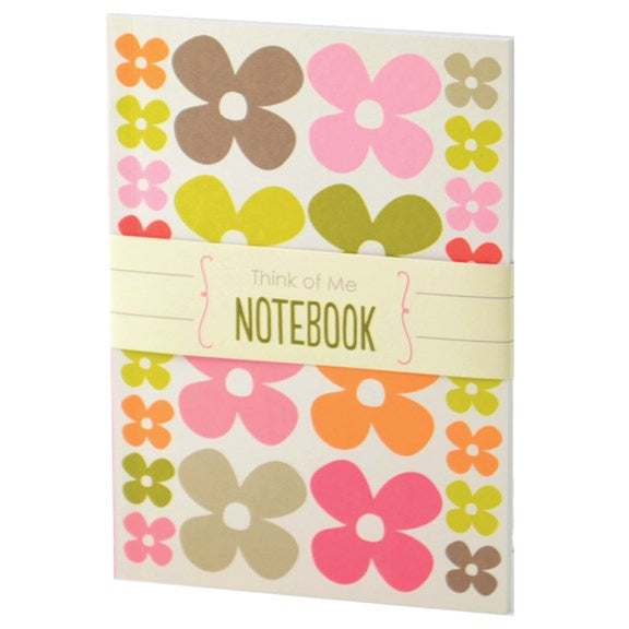 A5 Flower Patterned Notepad