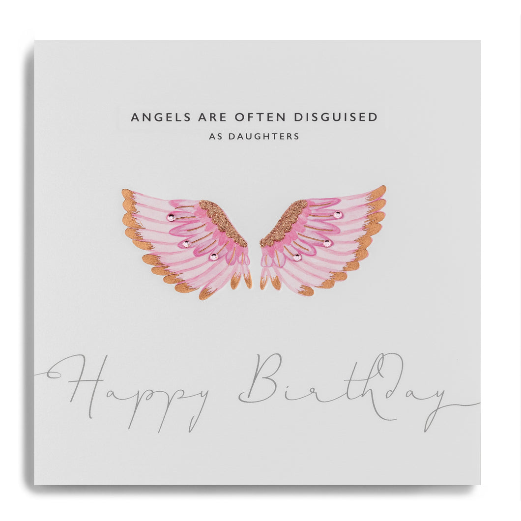 Angels Are Often Disguised As Daughters Happy Birthday - Angel Wings