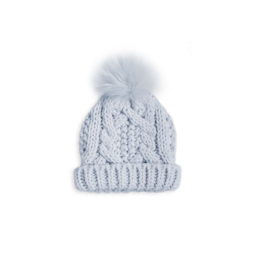 Cable Knit Baby Bobble Hat