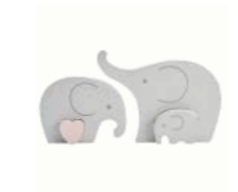 20 TR Elephant Wooden Family Decoration was £8.99