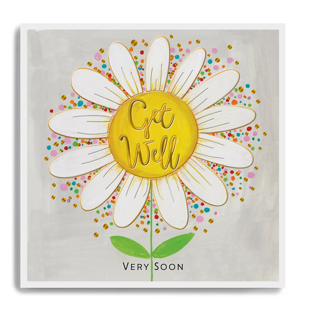 Get Well Very Soon - White Daisy
