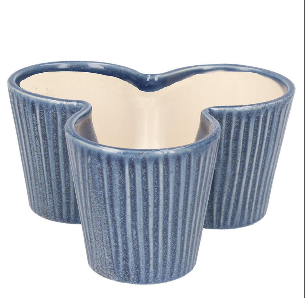 Blue Trio Pot Cover