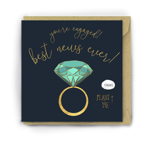 You're Engaged! Best News Ever Bean Card