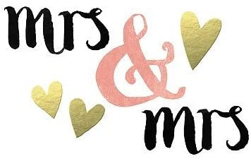Mrs and Mrs Gold Hearts