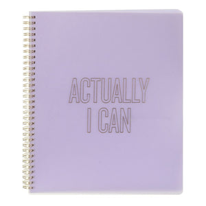 Large Spiral Notebook, Actually I Can
