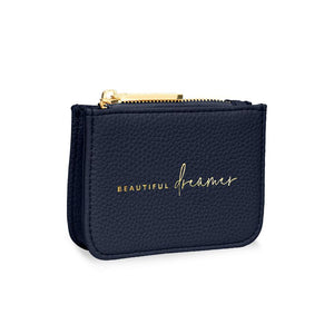 Navy Beaut Dreamer Coin Purse Stylish Structured