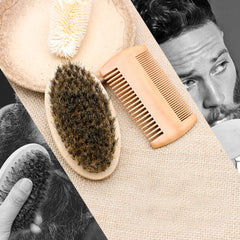 Beard Brush + Comb Set