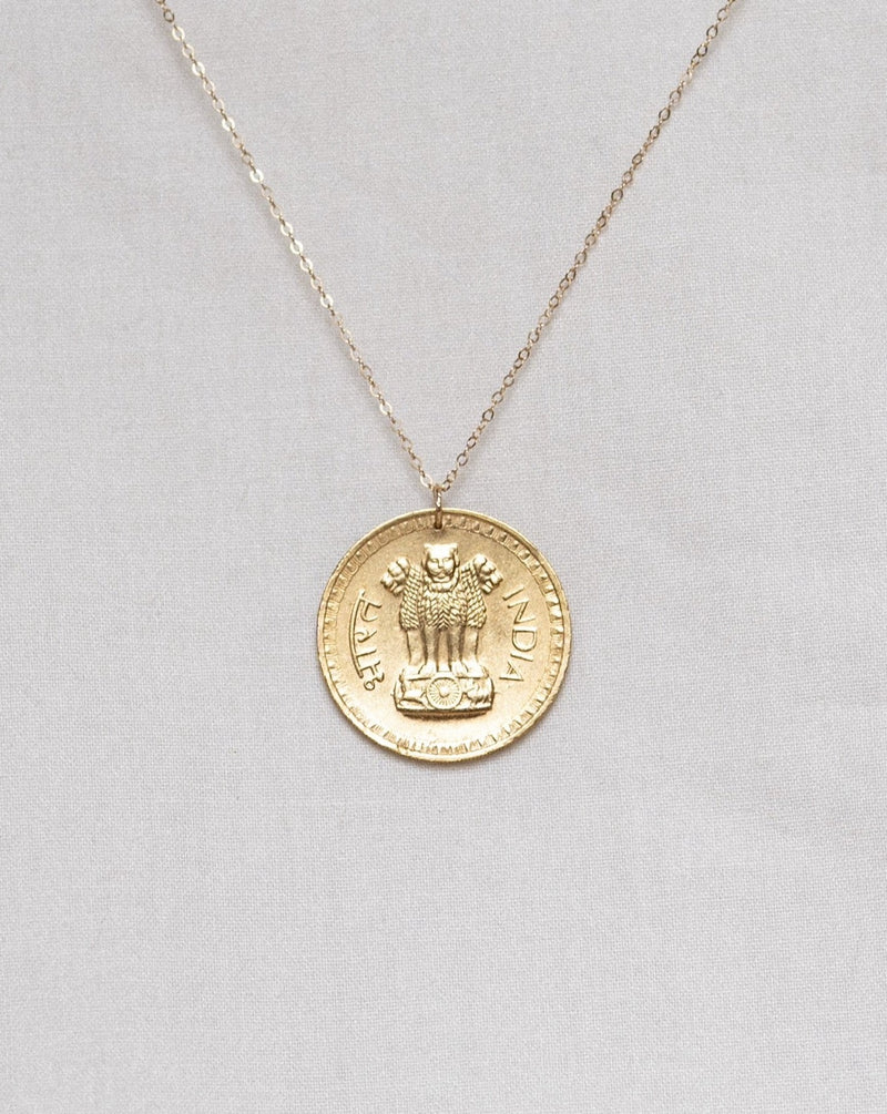 Indian Medallion Coin Necklace