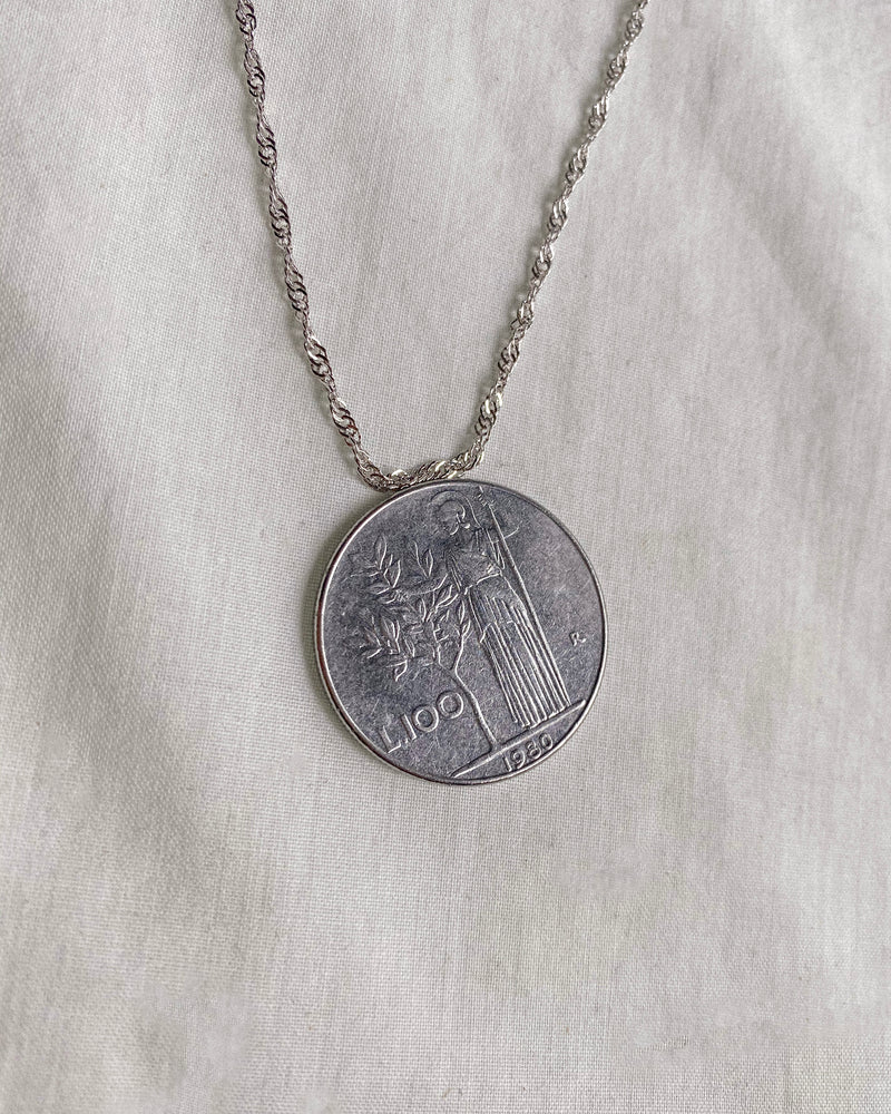 Italian Coin Necklace | Minerva