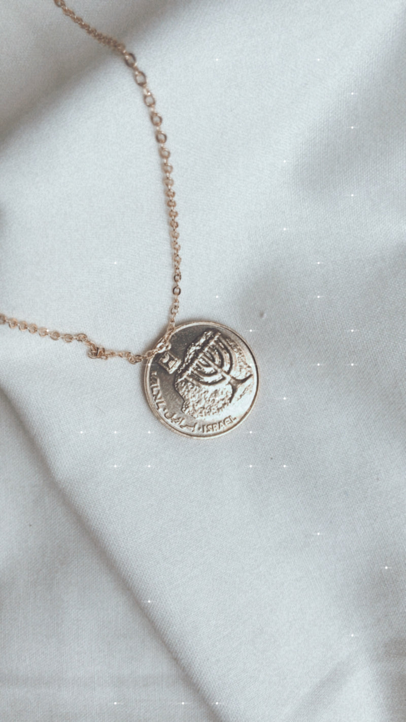 Israeli Coin Necklace | Hanukkah
