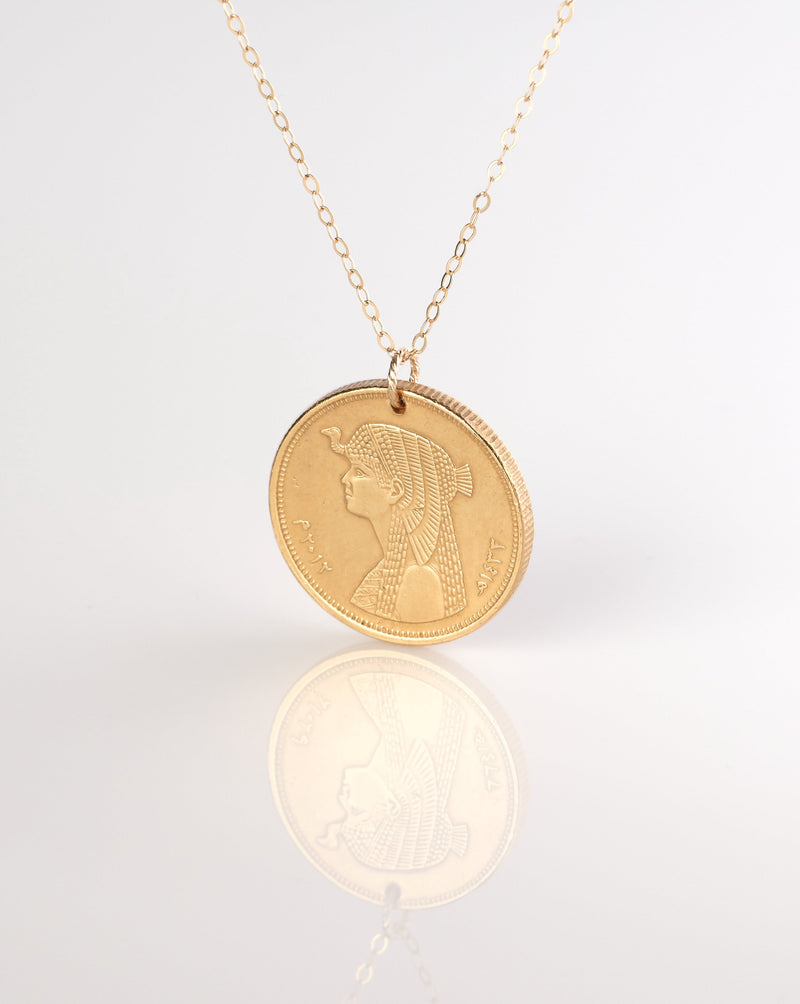 Cleopatra Coin Necklace | Egypt