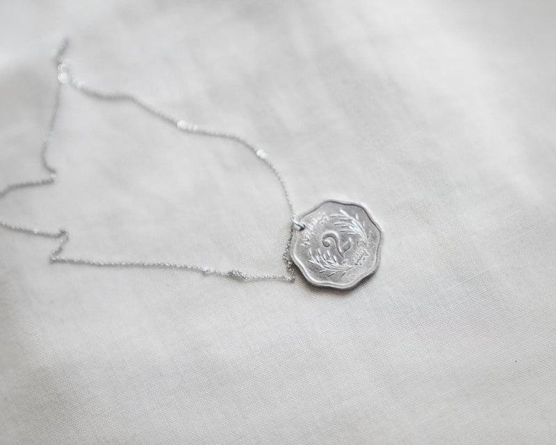 Pakistan Crescent Moon Coin Necklace