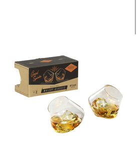 GH - Set of 2 Rocking Whiskey Glasses