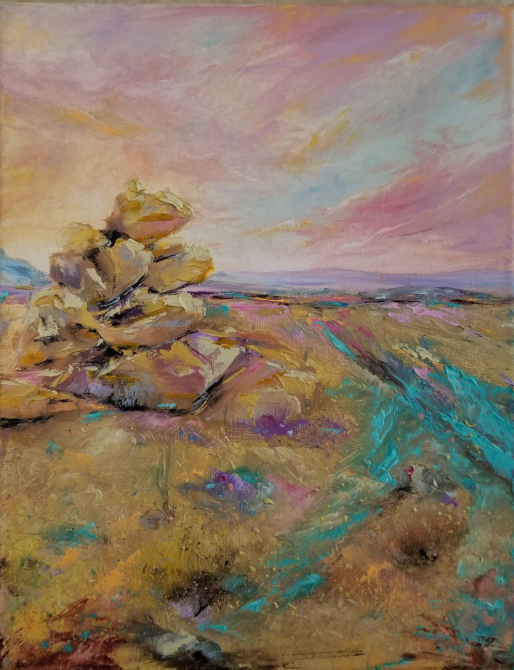 Carefree Colors - original oil painting, landscape, boulders, rocks, southwest, southwestern, desert, Arizona, oil painting, painting, on canvas, colorful, wall art, home decor