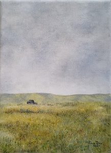 Come What May - original oil painting, landscape, farm, barn, oil painting, country, painting, clouds, rustic, on canvas, small, wall art, decor, gift, art