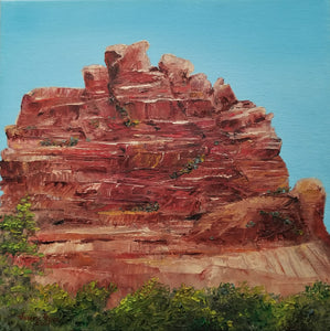 Red Rock Reverence - original oil painting Sedona landscape desert Arizona red rock mountain southwest southwestern western nature landscapes wall home decor art