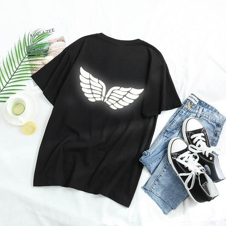 T-shirt Reflechissant<br> Wings - Streetwear Shop