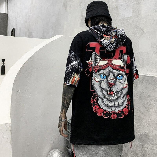 T-shirt Streetwear<br> Chat - Streetwear Shop