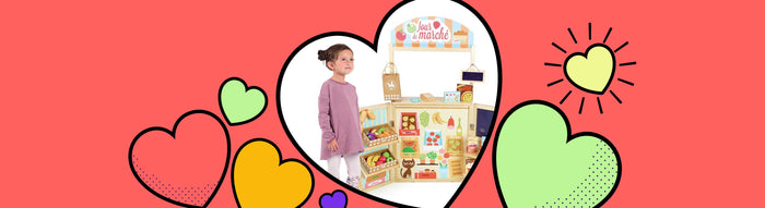 Vilac Large Retro Grocery Store Wooden Kitchen Play Set
