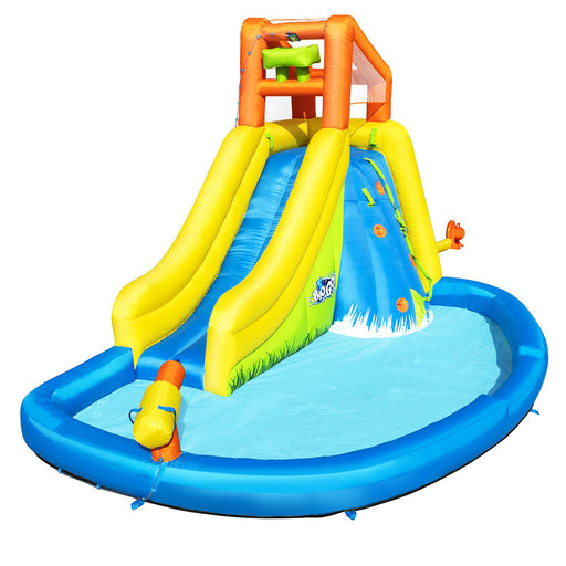 Sunny Days Enormous Inflatable Jumping Castle Water Slide Park with Splash Pool | Multi Colour
