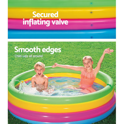 Bestway 1.5M Inflatable Kids Above Ground Swimming Pool | Multi Colour